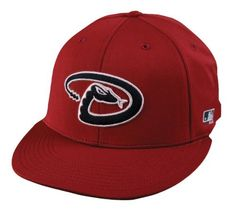0542fbeb736 Arizona Diamondbacks ADULT Cap (NEW CF2 Visor Flat or Curved Brim) MLB  Adjustable Velcro Replica Baseball Hat