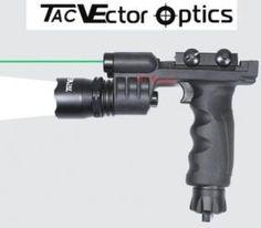 Vector Optics Tactical Fore Head Handle Grip Flashlight w/ Green Laser Combo Sight