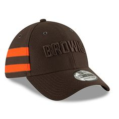 Men s New Era Brown Cleveland Browns 2018 NFL Sideline Color Rush Official  39THIRTY Flex Hat 4987b7828