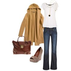 Love this bag and those wedges! And of course the cardigan...I could wear a cardigan every day :)