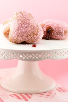 Jam Doughnuts Rolled in Pink Sugar - so deliciously cute!