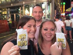 [July 24, 2015] Jennifer Gilbert (VP of Strategic Development at Booktrope) (left) and author Sheri Ryan (right) take a break from the activities at the Romance Writers of America conference to enjoy some hot nuts.
