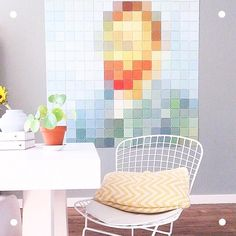 #Repost @lieks_home  The iconic image of Vincent Van Gogh's self-portrait as a modern IXXI. Angelique did a great job styling this pixel against a beautiful, grey wall. What a lovely color palette!  #IXXI #ixxiyourworld #VincentVanGogh #VanGogh #modern #art #home #interior #inspiration #walldecoration #colors #DIY #happy #monday #homedeco #design #ixxidesign