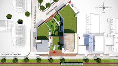 Plan de masse d'un programme immobilier neuf à Dijon