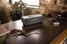 http://chicerman.com  beyondfabric:  Xmas Wishlist 2015  #3 - Bose Mini Bluetooth Speaker  For any music aficionado this portable speaker is the closest thing to achieving nirvana. Using Bluetooth to connect wirelessly to your smartphone or laptop you can enjoy Boses high-fidelity on the runplus dont let its compact size fool you this thing packs a punch.  #menshoes