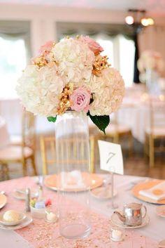 elegant wedding pink and white wedding centerpiece; Featured Photographer: Henry Photography Mod Wedding, Elegant Wedding, Wedding Table, Floral Wedding, Rustic Wedding, Wedding Flowers, Luxury Wedding, Tall Wedding Centerpieces, Elegant Centerpieces