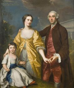 William Hoare R.A.:The Pitt Family. exhibited in 1761.