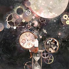 cute steampunk images, image search, & inspiration to browse every day. Alberto Giacometti, Illustrations, Illustration Art, Arte Steampunk, Clock Art, Time Art, Bunt, Surrealism, Fantasy Art