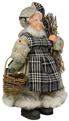 Weihnachtsfrau Finja 30cm: Nikolaus Santa Claus Deko Figur Weihnachtsmann