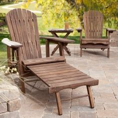 Adirondack reclining chair with retractable ottoman.  Must have this!