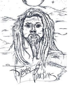 "My sketch ""Rasta Vibrations"". By K.A.I."
