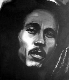 Bob Marley 60x40 technique: Oil on canvas autor: Petr ZEMAN, Czech republic, Vrchlabí 2009 - SOLD