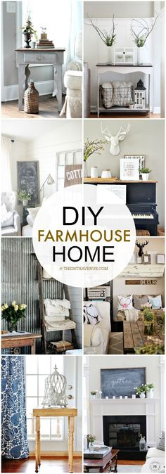 Country Home Decor -                                                              DIY Home Decor - Love these farmhouse decor ideas at the36thavenue.com ...So much inspiration!
