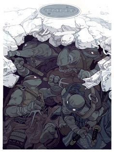 """Turtle Ukiyo-e"" for MONDO Here's my other Mondo poster for the Nick Show. It's an ukiyo-e inspired design. Ninjas didn't really run around dressed up as 'ninjas', would defeat the purpose of the..."