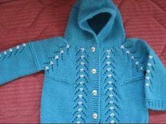 Rüksan Sökmen Yakalı Cepli Bebe Ceket Örgü Modeli 2014 Yılı El Örgü Modelleri - Antalya - YouTube