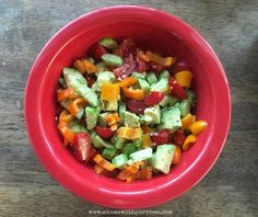 Avocado & Veggie Salad (S)- Simple and healthy! (Low carb)