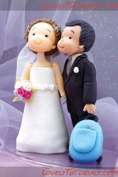Gumpaste (fondant, polymer clay) Groom and Bride figure making tutorial - Мастер-классы по украшению тортов Cake Decorating Tutorials (How To's) Tortas Paso a Paso by yixuanchan