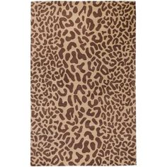 Hand-tufted Tan Leopard Whimsy Animal Print Wool Rug (12' x 15') - Overstock™ Shopping - Top Rated Oversized Rugs