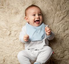 Soft and comfy for crawling and rolling! Boys Mod Dots Footie