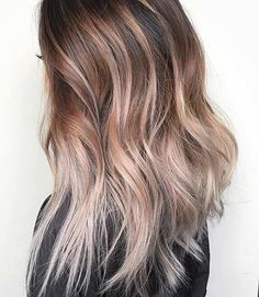 Beige Blonde Balayage Colourmelt Hair