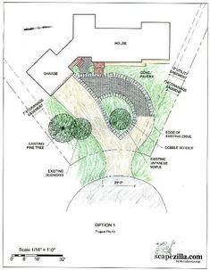 driveway idea - this is a good one Einfahrt Idee - das ist eine gute Idee Circle Driveway Landscaping, Driveway Design, Circular Driveway, Yard Landscaping, Driveway Ideas, Driveway Culvert, Driveway Lighting, Driveway Entrance, Grand Entrance