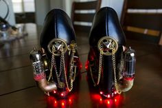Beautiful steampunk heels are beautiful, except heels.