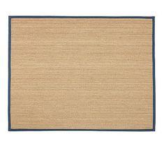 $ 560 pick way it runs  4 weeks  Fibreworks® Custom Color-Bound Seagrass Rug - Indigo #potterybarn
