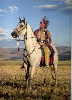 Indian warrior on his war horse with a great set of sleigh bells