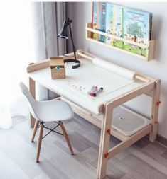 Kids Art Table, Kids Craft Tables, Baby Zimmer Ikea, Ikea Hack Kids, Ikea Kids Table, Kids Wall Decor, Baby Boy Rooms, Kid Spaces, Kids Furniture