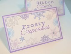 Set of 10 Frozen Food labels Let it Snow Snowflake by mimsysnest, $9.00