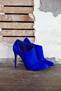 cobalt booties