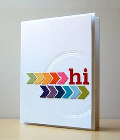 chevron arrow card #rainbow