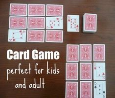Card Game Rules with Printable Grab a deck of cards and have a blast. this family game is great for kids and adults!Grab a deck of cards and have a blast. this family game is great for kids and adults! Golf Card Game, Fun Card Games, Card Games For Kids, Activities For Kids, One Player Card Games, 3 Card Game, Activity Games, Math Games, Games To Play