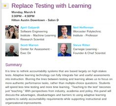 EdTechSandyK: Replace Testing with Learning #SXSWedu