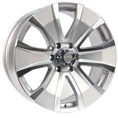 RTX Wheels - RTX Off road - Wedge Silver Machined Grandeur/Size : 18X8 / 20X8.5 http://www.rtxwheels.com/en/wheels/rtxwheels-wedge-silver-machined