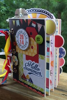 Summer Scrapbook Mini Album Kit or Premade 20 pages by ArtsyAlbums, $42.99