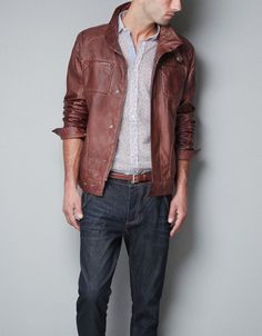 ZIP JACKET WITH PIPING DETAIL - Jackets - Man - ZARA United States