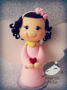 23/08 - Anjinha Julia personalizada para o batizado !! Obrigada a Mamãe Denise Garrido de Agostino - São Paulo-SP ♥