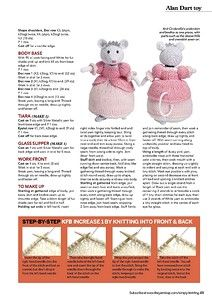 Cinderella Alan Dart part 2 Knitted Doll Patterns, Animal Knitting Patterns, Christmas Knitting Patterns, Knitted Dolls, Stuffed Animal Patterns, Crochet Toys, Knitting Bear, Knitted Teddy Bear, Free Knitting