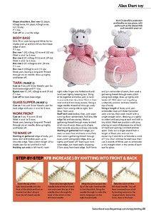 Cinderella Alan Dart part 2 Knitted Doll Patterns, Animal Knitting Patterns, Knitted Dolls, Stuffed Animal Patterns, Crochet Toys, Crochet Patterns, Knitting Bear, Free Knitting, Knitting Toys