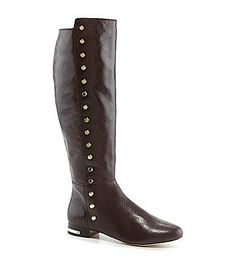 MICHAEL Michael Kors Ailee Flat Boots review - dark coffee brown professional riding boot to wear to work office