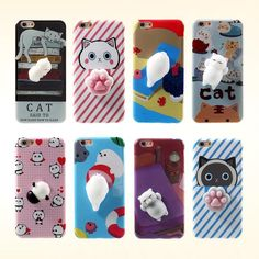 Poke it, squish it, rub it. Unlimited Fun Guaranteed even while the Squishy Cat protects your Phone! Update: Added Squishy Panda and Seal Cases! More to Squish! Makes a perfect gift! Get this Now at 55% OFF + FREE Shipping Until Stocks Last! BUY ANY 2 SQUISHY CASES AND GET THE 3RD ONE FOR FREE!! AVAIL OFFER AT CHECKOUT! Features: TPU back case designed with 3D soft silicone cartoon animal, pinch the cartoon to relieve the pressure Designed to cover all the edges so that your kitty/pand...