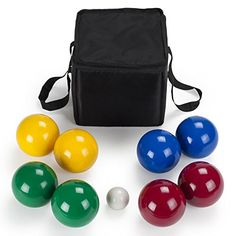 Deluxe 4-Player Resin Bocce Ball Set with Carrying Case, ...