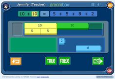 I love combining great math with technology. If that sounds good to you, too, you'll want to check out DreamBox Teacher Tools.  Check out this interactive rekenrek. Use the Show Card and Hide Card buttons to flash cards for the students, who tell you the number they saw represented. Here's a matching game for …