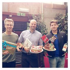 And the boys have it! Our Great Prodo Bake Off winners, Laurence, Dave & Nick! #GPBO #macmillancoffeemorning