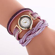 Double Color Twist Around Bracelet Watch