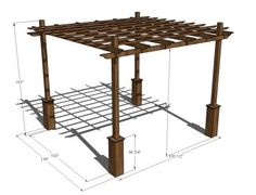 I want to make this! DIY Furniture Plan from Ana-White.com A pergola with a little extra fancy touches, that is both easy to build and can accommodate a variety of footings. Works with the rest of the Weatherly Collection.