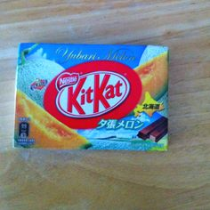 Melon flavored kit kat from Japan.  Yummy I love them!