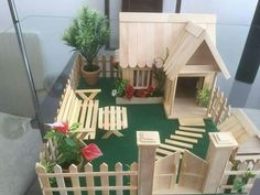 House Garden Kids Popsicle Sticks 24 Ideas House Garden Kids Popsicle Sticks 24 Ideas Best Picture For Miniature Garden kids For Your Taste You are looking for something, and it is goi Popsicle Stick Crafts House, Popsicle Sticks, Craft Stick Crafts, Wood Sticks Crafts, Craft Stick Projects, Resin Crafts, Home Crafts, Crafts For Kids, Stick Art