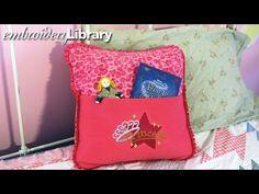 Embroidered Fleece Pocket Pillow - YouTube